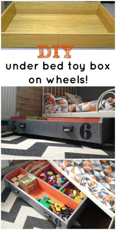 How to make a DIY under the bed toy box on wheels