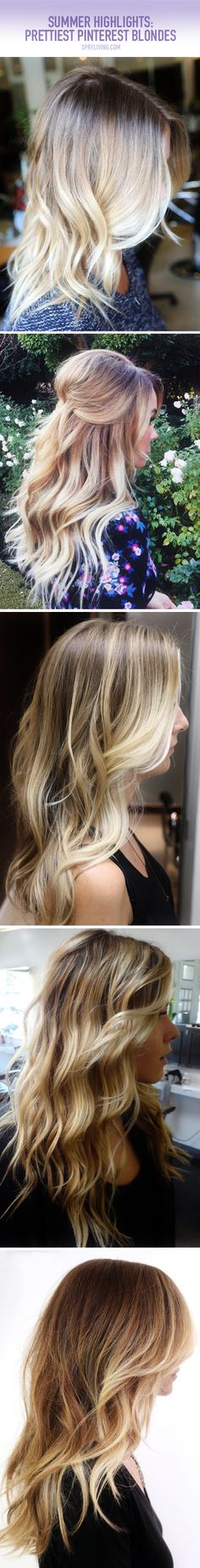 There's nothing prettier than sporting gorgeous sun-kissed hair in the summertime. Here are the most gorgeous blonde highlights on Pinterest! // spryliving.com