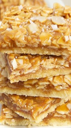Salted Caramel Almond Bars