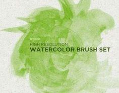 High Resolution Watercolor Brush Set Photoshop brush