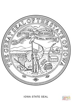 click the iowa state seal coloring pages to view printable version or color it online