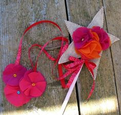 felt wand with hanging flowers