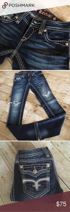 Rock Revival Buckle Madison Jeans EUC 25 Excellent Flawless Condition!! Madison Straight leg. Size 25 waist 32 inch inseam. Rock Revival Jeans