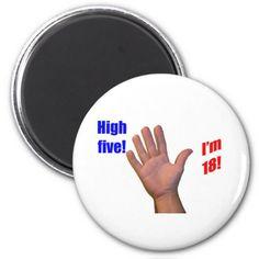 18 High Five! Magnet
