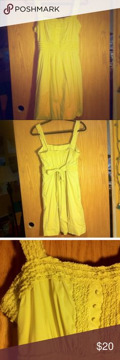 BCBG Maxeria sundress Beautiful yellow BCBG Max Serie A dress with ruffled sleeves and top. Great for Easter, Spring, or brunch. BCBGMaxAzria Dresses Midi