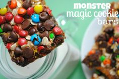 Monster Magic Cookie Bars - Something Swanky