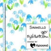 Sinikellot -trikoo (digiprintti). Kukan leveys n. 4 cm / Blue Bell jersey (digital print