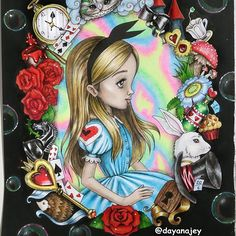 "WEBSTA @ dayanajey - #nofilter The very first page from the coloring book by Fabiana Attanasio ""Alice in Wonderland"". Done with Faber Castell Classic and Maped Neon pencils / Первая страничка из раскраски Фабианы Аттаназио ""Алиса в Стране Чудес"". Обзор на нее и на ""Питер Пэн"" на канале - ссылка в профиле!)))) Книжки достойны коллекции, хоть качество издания очень не очень, но иллюстрации вкусные  Присмотритесь!  #coloringbook #lostocean #colorindolivrostop #coloringbookforadults…"