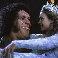 Robin Wright and André the Giant in The Princess Bride
