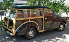 I would love this to be the vehicle for our weekend cabin. 1960 Morris Minor 1000 Traveller