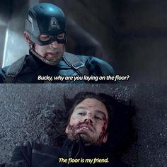 Bucky is me when I'm lazy/tired""