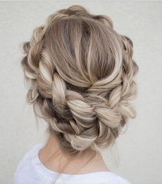 This braided crown would be perfect for a day night.