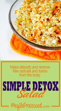 [VEGAN] Simple Detox Salad Great source of essential vitamins and nutrients. Packed with antioxidants and cancer-fighting properties. Improves heart health and kidney function.