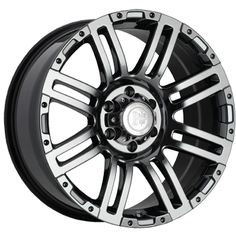 "Black Iron Rebel - Black Chrome PVD. Available in 17"", 18' and 20"".  Starting at $261.99.  http://www.blackironwheels.ca/  #truck #SUV #wheel #rim"