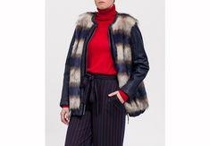 Prendas de abrigo. Abrigo con pelo Plaid Scarf, Fashion, Gifs, Fall Season, Seasons, Coats, Hair, Trends, Moda