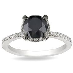 Hope my future hubby gets me this engagement ring <3 my wish Black ring, I likeeee