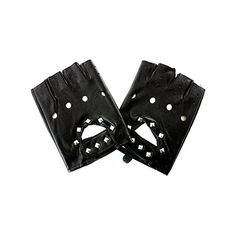 Blue Banana PU Studded Leather Gloves (Black) ($13) ❤ liked on Polyvore featuring accessories, gloves, blue gloves and studded leather gloves