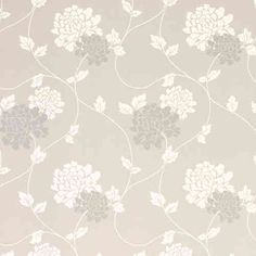 papel de pared estampado isodore gris paloma