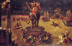 Carrousel à l'éléphant, 1571, Antoine Caron