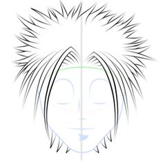 Drawing lots of spikey anime hair