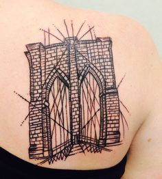 Brooklyn Bridge - my new tattoo. In love with it. By Sue at East River Tattoo in Greenpoint.