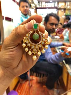 <br> vanasthalipuram ngos colony opposite to kotak mahindra bank. Gold Jhumka Earrings, Indian Jewelry Earrings, Gold Earrings Designs, Gold Jewellery Design, Bridal Jewelry, Cz Jewellery, Gold Designs, Tikka Jewelry, Gold Necklace