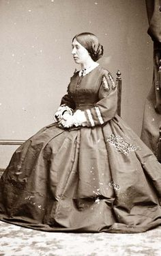 Mrs. Ulysses S. Grant. Julia Grant was often photographed from the profile due to her having crossed eyes.