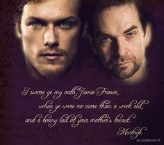 Jamie and Murtagh #outlander#spring 2014