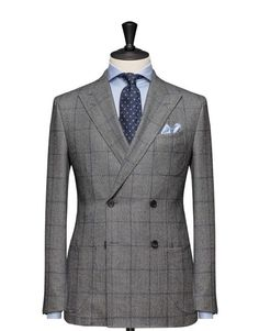 Tailored 2-Piece Suit - Fabric 4537 Check Grey
