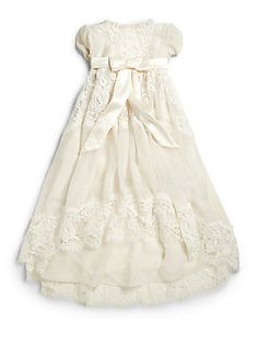 Dolce & Gabbana Infant's Lace Baptism Dress 1,200.00/ WOW! beautiful. Definitely looking for something similar to this but not for this price lol