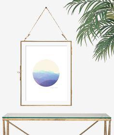 Minimalistische kunst Boheemse decor berg foto door FeatherAndIndigo