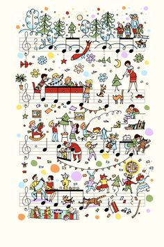 On Note: Miniature Illustrations on Sheet Music by Lena Erlich | Yatzer