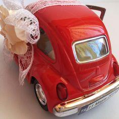 Kırmızı Vosvos nikah şekeri arka plaka görünümü