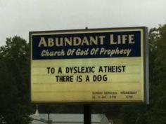 Love a good church sign.