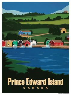 Vintage Travel Image of Prince Edward Island Poster - Browse all products in the Travel Posters - World Destinations category from IdeaStorm Studio Store. London Poster, National Park Posters, Prince Edward Island, Thing 1, Travel Alone, Vintage Travel Posters, Canada Travel, Travel Pictures, Travel Photos