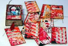 The Kathryn Wheel: Tiny art journaling ...Stamp by Dina Wakley