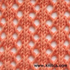 Right side of knitting stitch pattern