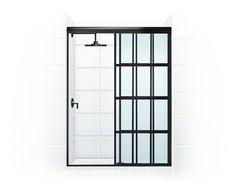 井 GRIDSCAPE™ Series [Patent Pending]Sliding Bypass (Open) by Coastal Shower Doors. www.coastalind.com.