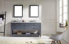 "72"" Virtu Caroline Estate MD-2272-GR bathroom vanity"