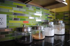 Explore endless possibilities for your glass tile kitchen with our backsplash design gallery. Contact Susan Jablon today to create the kitchen of your dreams. Glass Mosaic Tile Backsplash, Modern Kitchen Backsplash, Grey Backsplash, Glass Tiles, Backsplash Ideas, Quartz Backsplash, Rustic Backsplash, Backsplash Design, Beadboard Backsplash