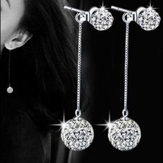 925 Sterling Silver Crystal Long Tassel Earrings 925 Sterling Silver Crystal long tassel earrings!!  Add a little sparkle to any outfit with these beauties!! Jewelry Earrings