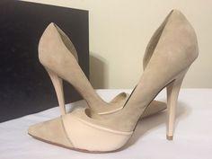 L.A.M.B. Kadie Rose Nude Suede / Leather Women's Heels Pumps Size 5.5 M #LAMB #FashionClassicsHeelsPumps #Casual