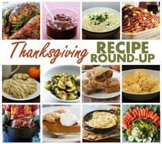 Thanksgiving Recipe Round-Up - 40 delicious recipes that would be perfect on any Thanksgiving table! Yum!