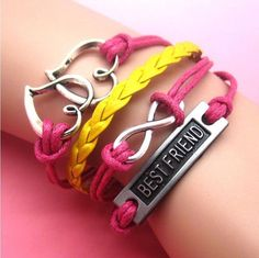 DIY Jewelry fashion Leather Cute Infinity Charm Bracelet Silver lots Style Pick | eBay