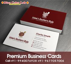 Business Cards Online, Premium Business Cards, Visiting Card Printing, Southern Style, Smooth