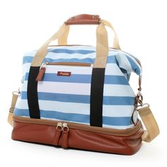 Love the nautical feel of this Weekender Bag!