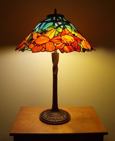 Floral Tiffany lamp will bring some color into your home.