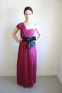Berry Purple Evening Dress by NatalieChanBoutique on Etsy