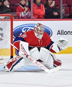 MONTREAL, QC - MARCH 14: Carey Price #31 of the Montreal Canadiens warms up prior to the NHL game against the Chicago Blackhawks at the Bell Centre on March 14, 2017 in Montreal, Quebec, Canada. (Photo by Francois Lacasse/NHLI via Getty Images)
