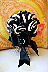 Black and white candy for the kids
